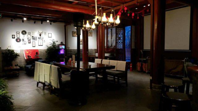 中国のゲストハウスのロビー
