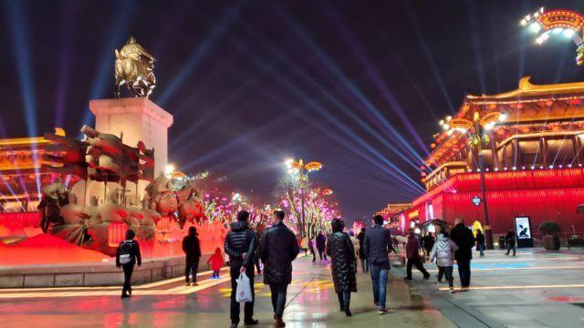 中国のイルミネーション