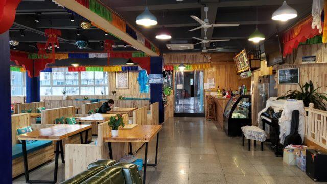 中国のゲストハウスのレストラン