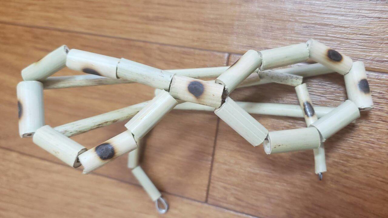 笹で作った眼鏡